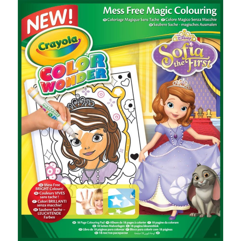 color wonder coloring books sofia the first crayola - Color Wonder Books